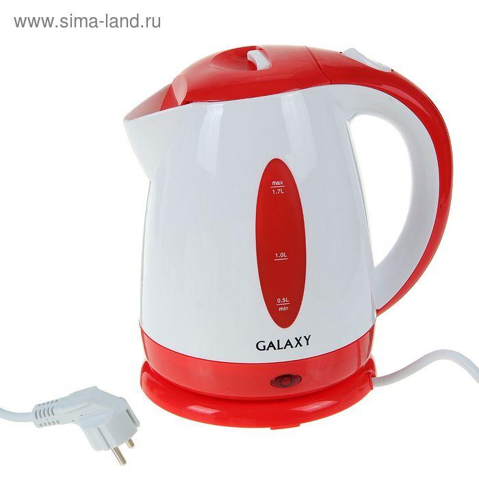 Чайник электрический Galaxy GL 0221, 2200 Вт, 1.7 л, красный