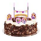 """Свеча в торт Дисней """"С Днем Рождения"""" 2 свечи, Принцессы: Рапунцель"""