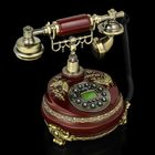 Phone retro Polyresin, a Circle with a pattern of stucco Butterfly bronze, brown 23*26cm