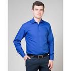 Сорочка мужская normal fit 3-0228, цвет синий, размер 44, рост 170-176 см