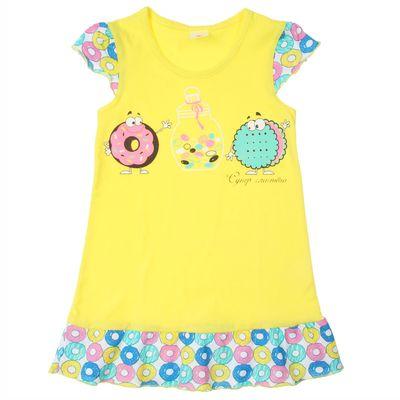 """Сорочка для девочки """"Прянички-конфетки"""", рост 98-104 см (28), цвет лимон"""
