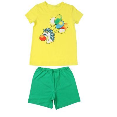 """Комплект для мальчика """"Ёж"""", рост 98-104 см (26), цвет зёленый/жёлтый"""