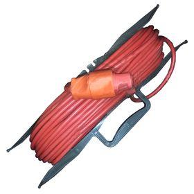 Удлинитель на рамке GLANZEN, 1 розетка, 30 м, ПВС 2*0.75, ER-30-001 Ош