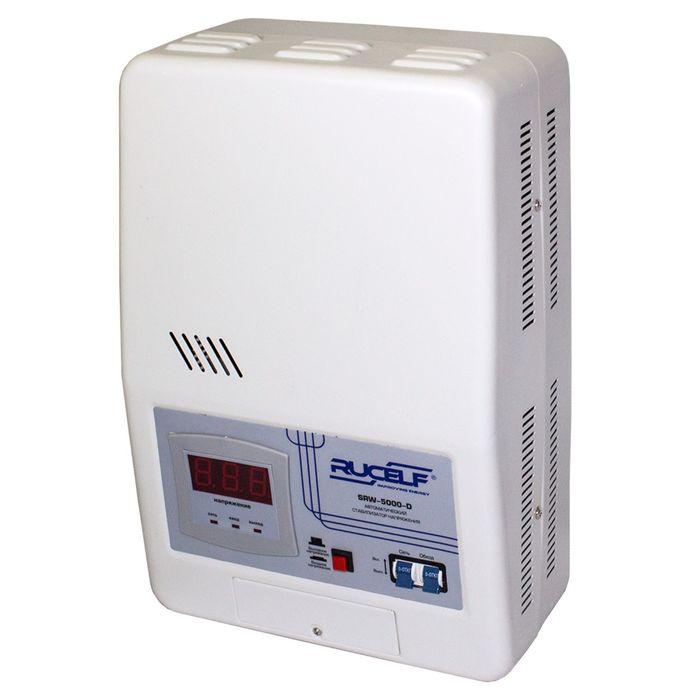 Стабилизатор напряжения RUCELF SRW- 5000-D, релейный, точность +/- 6%, 5000 ВА