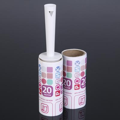 Набор для чистки одежды GRIFON: ролик + сменный блок 20 листов в упаковке