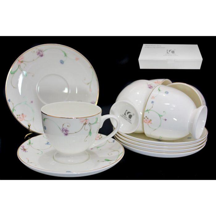 Чайный набор «Английский сад», 12 предметов, в подарочной упаковке