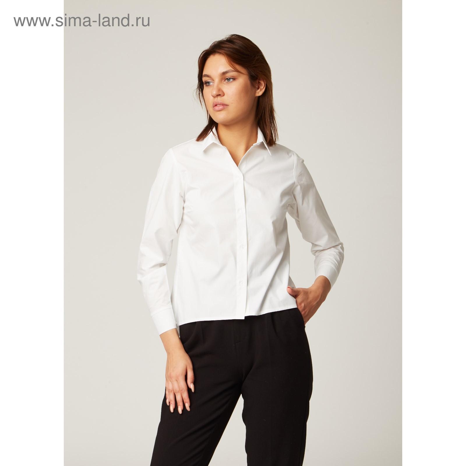 e731871b0ad9 Рубашка женская трапеция, размер 40-42, белый, хлопок 100% (1821905 ...