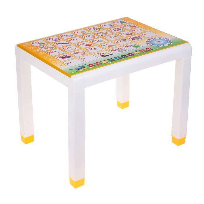 Стол детский с деколем, 600х500х490 мм, цвет жёлтый