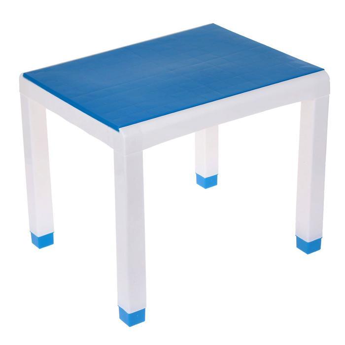 Стол детский, 600х500х490 мм, цвет голубой