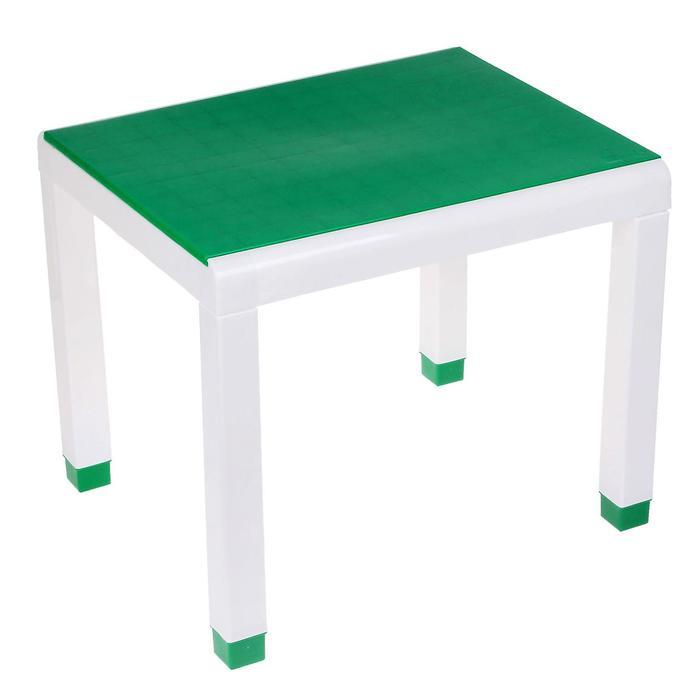 Стол детский, 600х500х490 мм, цвет зелёный