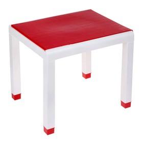 Стол детский, 600х500х490 мм, цвет красный Ош
