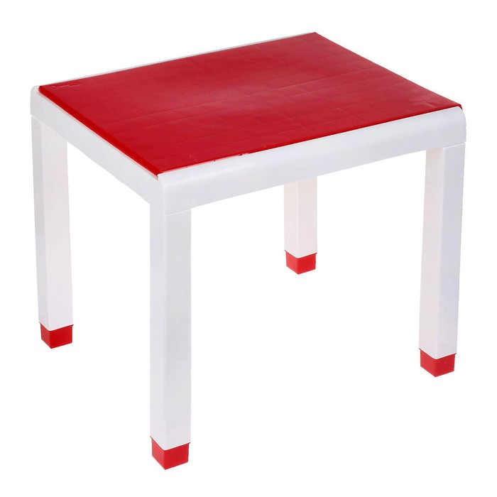 Стол детский, 600х500х490 мм, цвет красный
