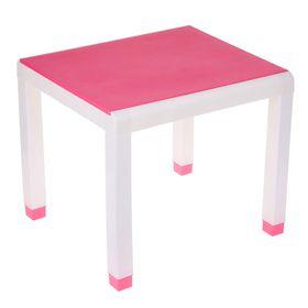 Стол детский, 600х500х490 мм, цвет розовый Ош