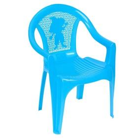 Кресло детское, 380х350х535 мм, цвет голубой