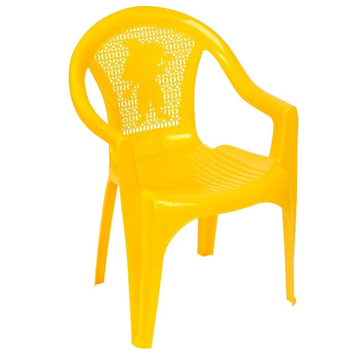 Кресло детское, 380х350х535 мм, цвет жёлтый