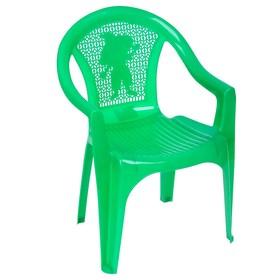Кресло детское, 380х350х535 мм, цвет зелёный