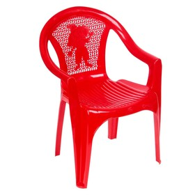 Кресло детское, 380х350х535 мм, цвет красный Ош