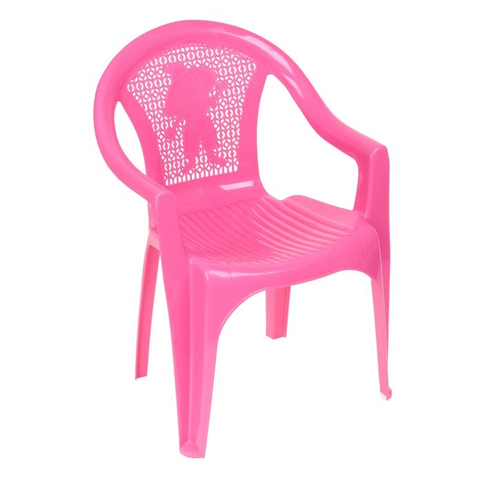 Кресло детское, 380х350х535 мм, цвет розовый
