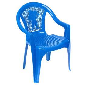 Кресло детское, 380х350х535 мм, цвет синий