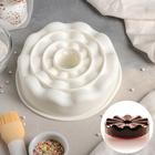 """Форма для выпечки и муссовых десертов 21х20,5х5,5 см """"Воланы"""", цвет белый"""