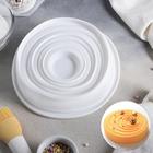 """Форма для выпечки и муссовых десертов 20х19х4,5 см """"Рябь"""", цвет белый"""