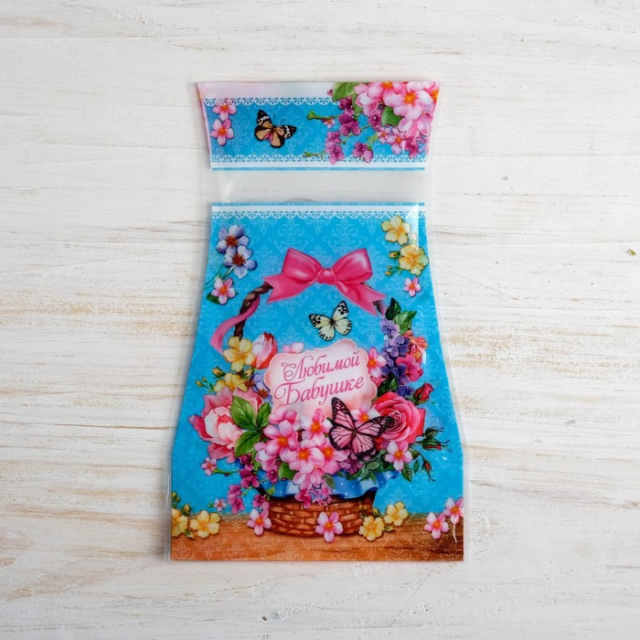 Ваза для цветов складная «Любимой бабушке»