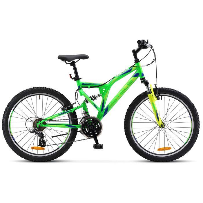 """Велосипед 24"""" Stels Mustang V, 2017, цвет неоновый зелёный, размер 16"""""""