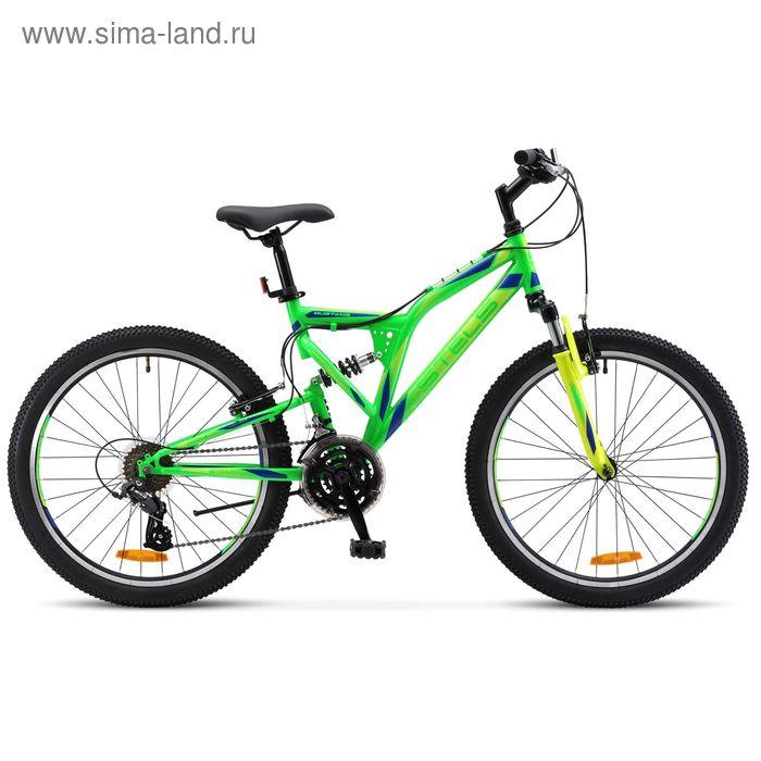 """Велосипед 24"""" Stels Mustang V, 2017, цвет неоновый-зеленый, размер 16"""""""