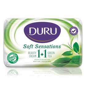 Крем-мыло DURU 1+1 «Зелёный чай», 80 г
