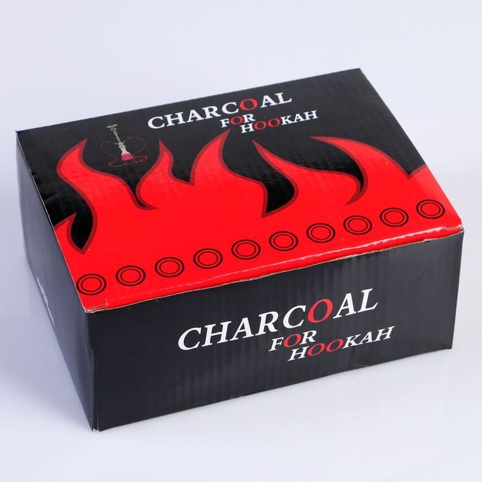 Уголь для кальяна Charcoal, древесный, 10 шт