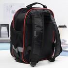 Рюкзак детский на молнии, 1 отдел, 3 наружных кармана, цвет красный/чёрный