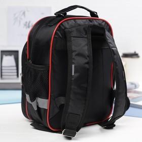 Рюкзак детский на молнии, 1 отдел, 3 наружных кармана, цвет красный/чёрный Ош
