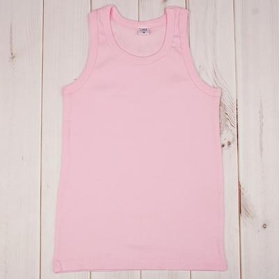 Майка для девочек, розовый, 116-122 см (34)