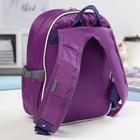 Рюкзак детский на молнии, 1 отдел, 3 наружных кармана, цвет розовый/фиолетовый