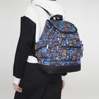 Рюкзак молодёжный, 2 отдела на шнурке, 3 наружных кармана, цвет голубой