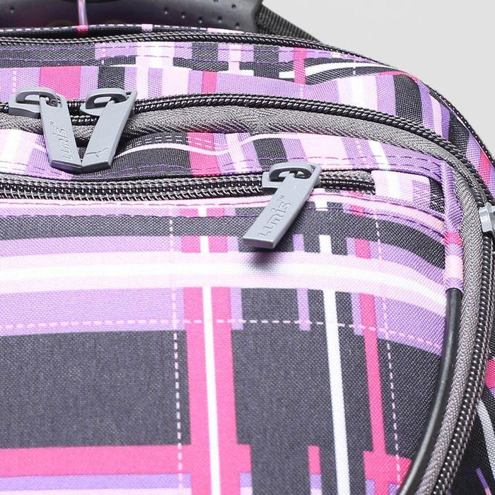 Рюкзак школьный, 2 отдела на молниях, наружный карман, цвет фиолетовый/разноцветный - фото 408727744