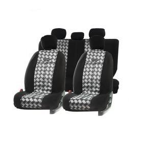Авточехлы универcальные AUTOPROFI TT-902J CHESS, полиэстер, жаккард, набор из 9 предметов, передний ряд, задний ряд
