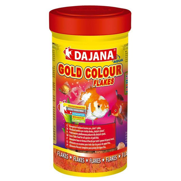 Корм Dajana Pet Gold color flakes для золотых  рыб, хлопья, 250 мл.