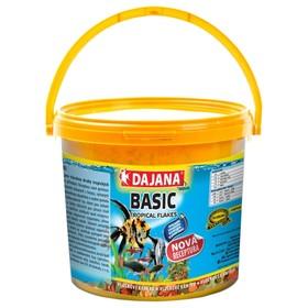 Корм Dajana Pet Tropica Basic flakes для всех видов декоративных рыб, хлопья, 10 л, 2 кг