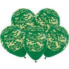 """Шары латексные 12"""" «Камуфляж», пастель, набор 50 шт., цвет тёмно-зелёный - фото 953403"""