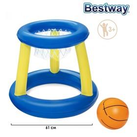 Набор для игр на воде «Баскетбол», d=61 см, корзина, мяч, от 3 лет, 52190 Bestway Ош