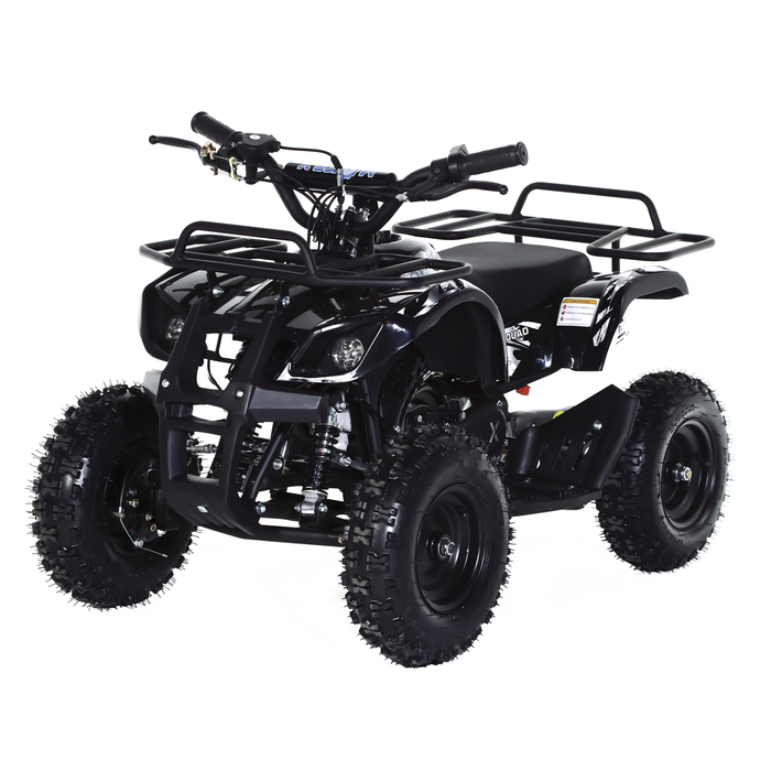 Квадроцикл детский бензиновый MOTAX ATV Х-16 Мини-Гризли, черный, механический стартер