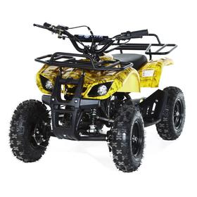 Квадроцикл детский бензиновый MOTAX ATV Х-16 Мини-Гризли, осенний камуфляж, механический стартер Ош