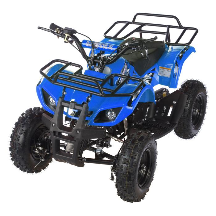 Квадроцикл детский бензиновый MOTAX ATV Х-16 Мини-Гризли, синий, электростартер и родительский пульт