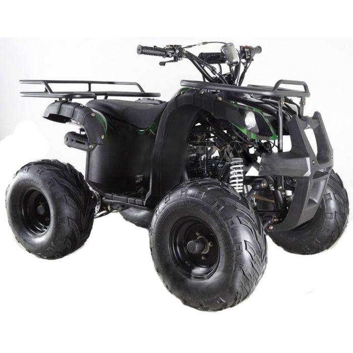 Квадроцикл подростковый бензиновый MOTAX ATV Grizlik Super LUX 125 cc, зелёный камуфляж
