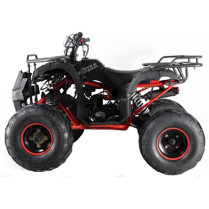 Квадроцикл подростковый бензиновый MOTAX ATV Grizlik LUX125 cc, чёрный, красная рама