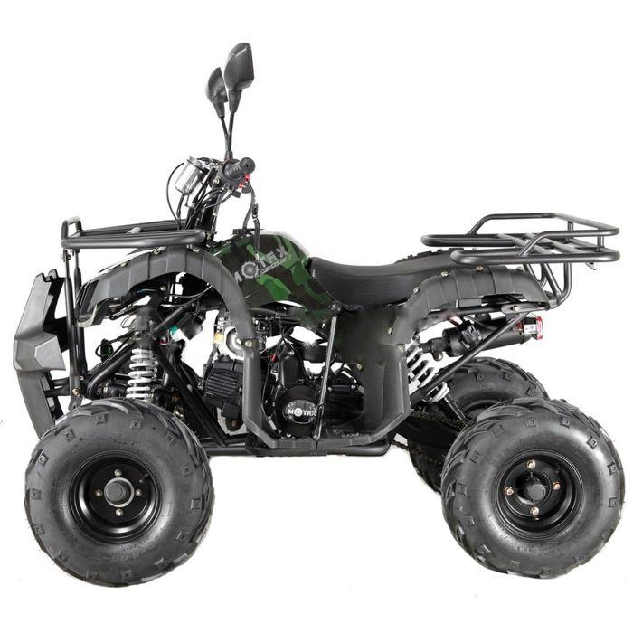 Квадроцикл подростковый бензиновый MOTAX ATV Grizlik LUX125 cc, зелёный камуфляж