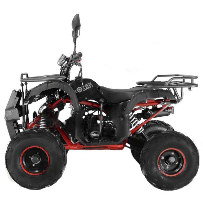 Квадроцикл подростковый бензиновый MOTAX ATV Grizlik-7 125 cc, чёрный, красная рама