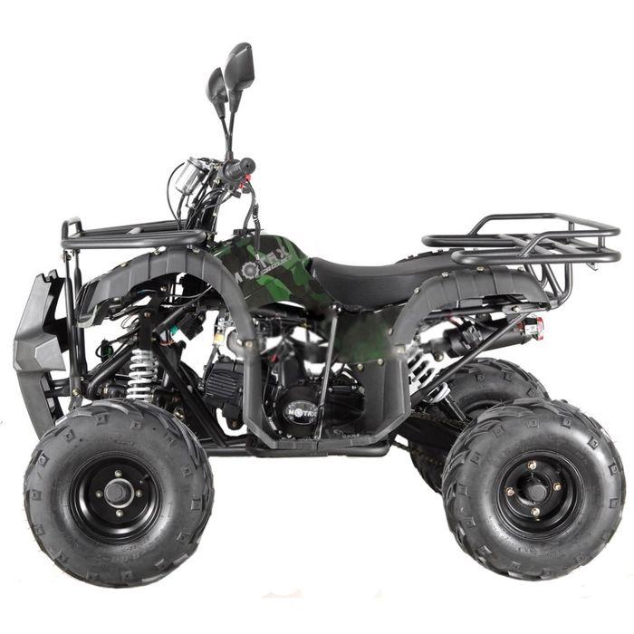 Квадроцикл подростковый бензиновый MOTAX ATV Grizlik-7 125 cc, зелёный камуфляж