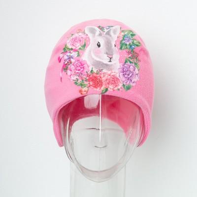 """Шапка детская Collorista """"Кролик"""", розовый, р-р 54, флис"""
